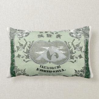 Tarjeta japonesa del comercio de la seda del vinta cojines