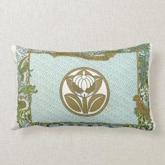 Tarjeta japonesa del comercio de la seda del vinta almohada
