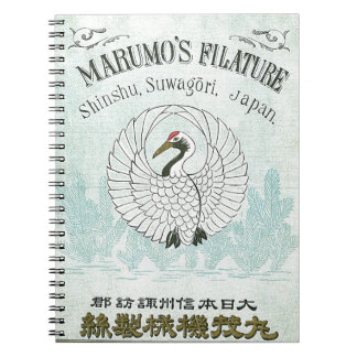 Tarjeta japonesa del comercio de la seda del vinta libreta