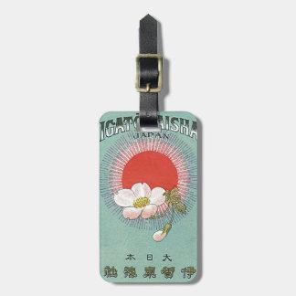Tarjeta japonesa del comercio de la seda del vinta etiquetas para maletas