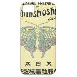 Tarjeta japonesa del comercio de la seda del vinta iPhone 5 carcasas