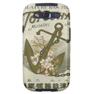 Tarjeta japonesa del comercio de la seda del vinta galaxy s3 fundas