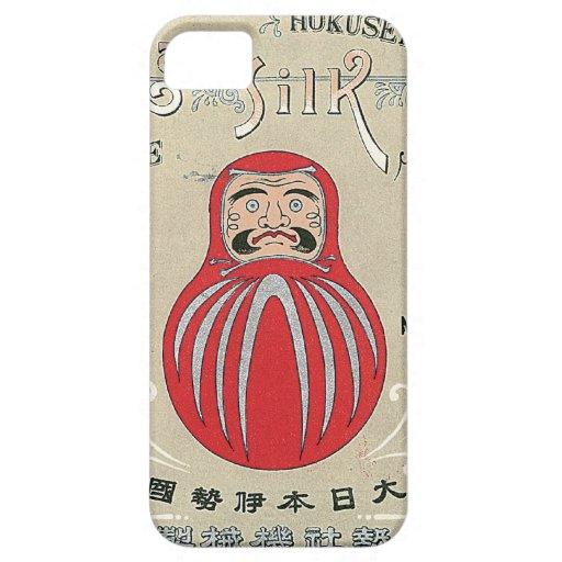 Tarjeta japonesa del comercio de la seda del vinta iPhone 5 Case-Mate cobertura