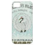 Tarjeta japonesa del comercio de la seda del vinta iPhone 5 Case-Mate protectores