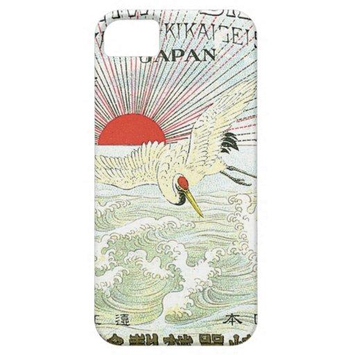 Tarjeta japonesa del comercio de la seda del vinta iPhone 5 Case-Mate funda