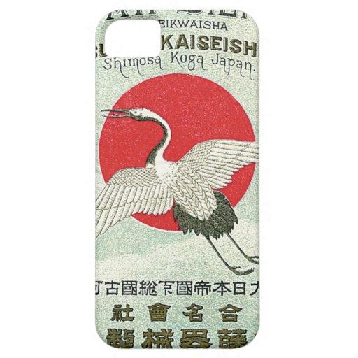 Tarjeta japonesa del comercio de la seda del vinta iPhone 5 carcasa
