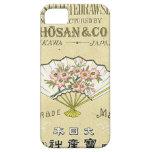 Tarjeta japonesa del comercio de la seda del vinta iPhone 5 Case-Mate cárcasa