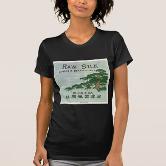 Tarjeta japonesa del comercio de la seda del vinta camisetas