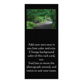 Tarjeta japonesa del estante del banco del jardín tarjeta publicitaria