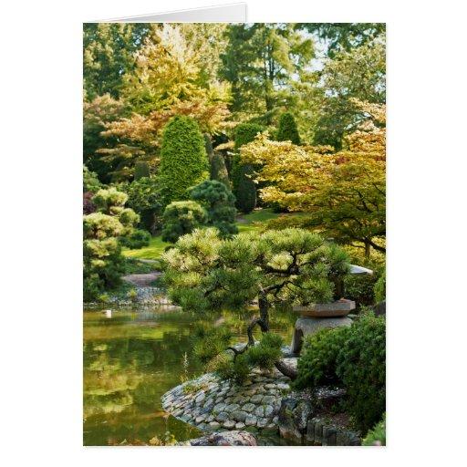 Tarjeta japonesa del jardín