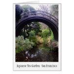 Tarjeta japonesa del jardín de té