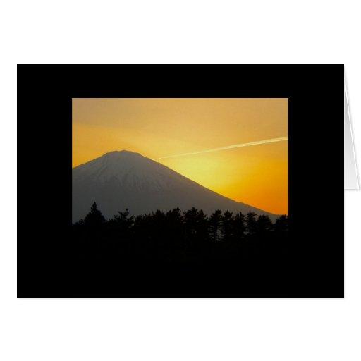Tarjeta japonesa (el monte Fuji)