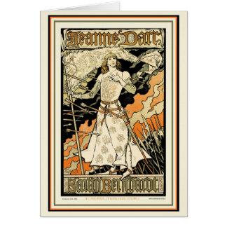 Tarjeta:  Jeanne D'Arc, Sarah Bernhardt