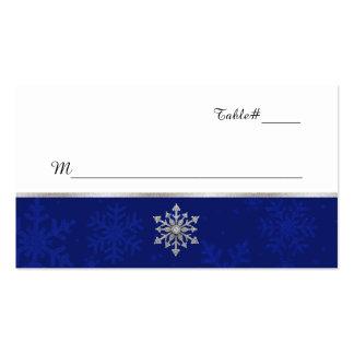 Tarjeta Jeweled azul elegante del lugar del boda Tarjetas De Visita