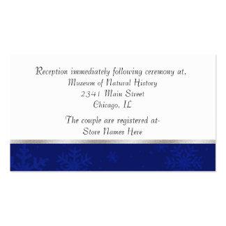 Tarjeta Jeweled azul elegante del recinto del boda Plantilla De Tarjeta De Visita