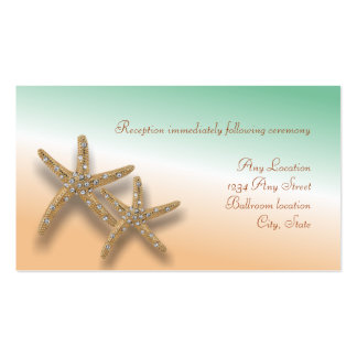 Tarjeta Jeweled de la recepción nupcial de las Tarjetas De Visita