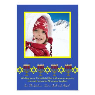 """Tarjeta judía de la foto de los días de fiesta invitación 5"""" x 7"""""""
