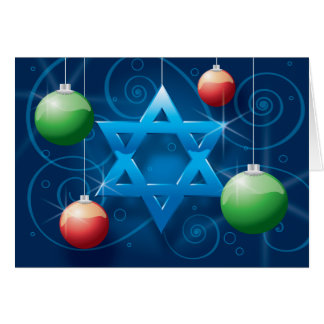 Tarjeta judía del día de fiesta de la estrella y d