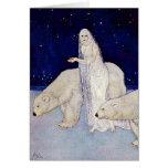 Tarjeta: La doncella de la nieve de Edmund Dulac