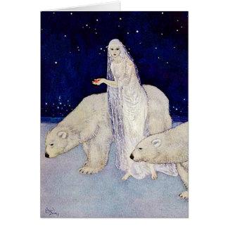 Tarjeta La doncella de la nieve de Edmund Dulac