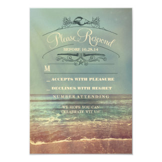 Tarjeta lamentable de RSVP del boda de playa Invitacion Personal