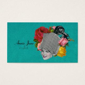 Tarjeta lamentable del estilista de los rosas de tarjetas de visita