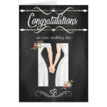 Tarjeta lesbiana de la enhorabuena del boda