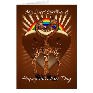 Tarjeta lesbiana del el día de San Valentín de Gir