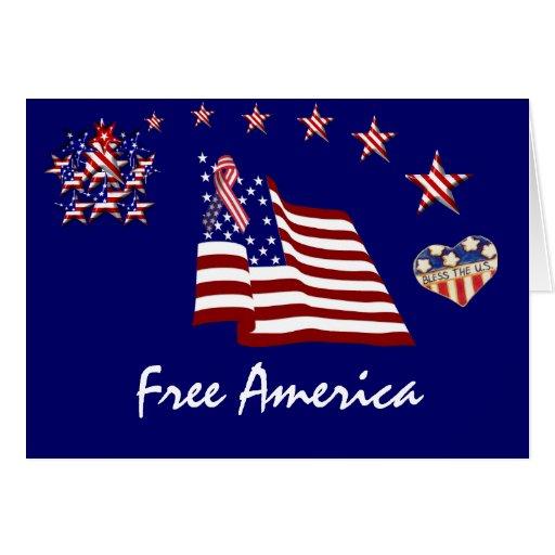 Tarjeta libre de América
