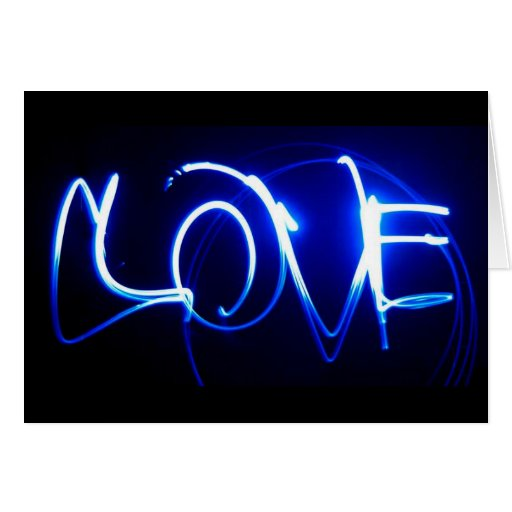 Tarjeta ligera de la escritura del amor