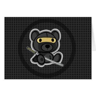 tarjeta linda 01 del guerrero del samurai del oso