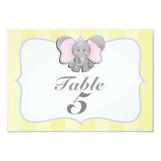 """Tarjeta linda #2 del número de la tabla del fiesta invitación 3.5"""" x 5"""""""