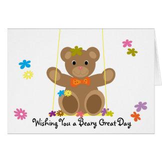 Tarjeta linda de Beary para un buen amigo de Beary