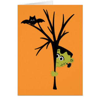 Tarjeta linda de Frankenstein Halloween