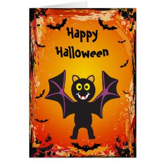 Tarjeta linda de Halloween del palo de vampiro