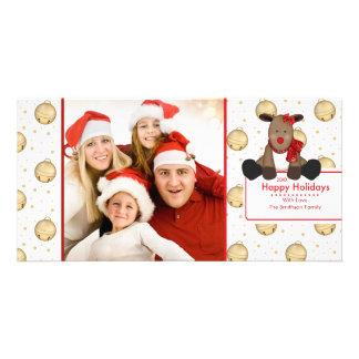 Tarjeta LINDA de la foto de familia del navidad de Tarjeta Personal