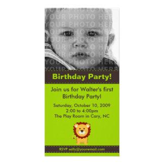 Tarjeta linda de la foto de la fiesta de cumpleaño tarjetas fotográficas
