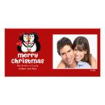 Tarjeta LINDA de la foto de las Felices Navidad de Tarjeta Personal Con Foto