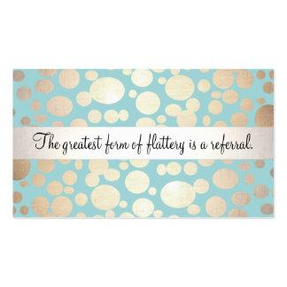 Tarjeta linda de la remisión de la belleza de las tarjetas de visita