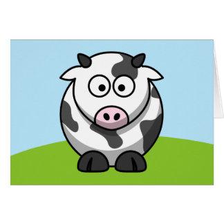 Tarjeta linda de la vaca