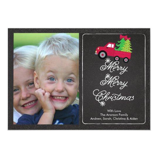 """Tarjeta linda de las Felices Navidad de la foto de Invitación 5"""" X 7"""""""