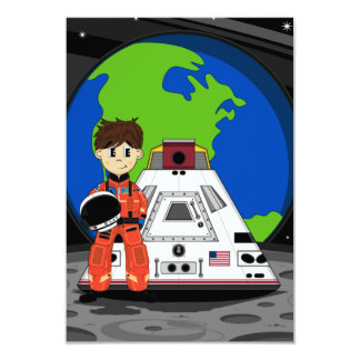 Tarjeta linda de RSVP del astronauta Invitación 8,9 X 12,7 Cm