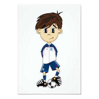 Tarjeta linda de RSVP del muchacho del fútbol de Anuncio Personalizado