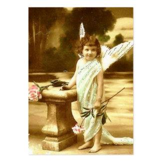 Tarjeta linda del ángel del chica del vintage plantilla de tarjeta personal