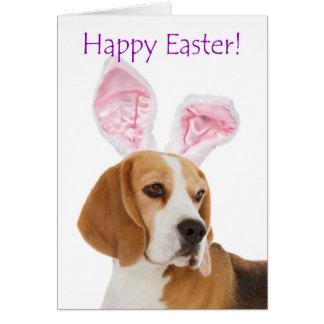 Tarjeta linda del beagle de Pascua