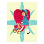 Tarjeta linda del día de San Valentín del vintage Postal