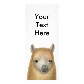 Tarjeta linda del estante de la alpaca lona personalizada