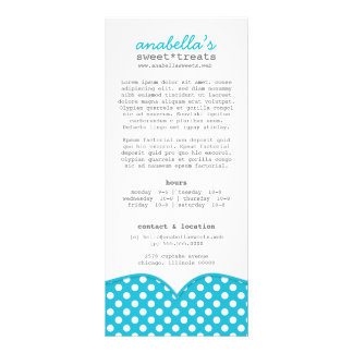 Tarjeta linda del estante de los lunares tarjeta publicitaria personalizada