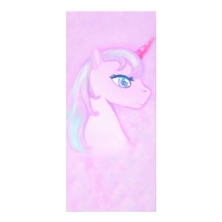 tarjeta linda del estante del unicornio plantilla de lona