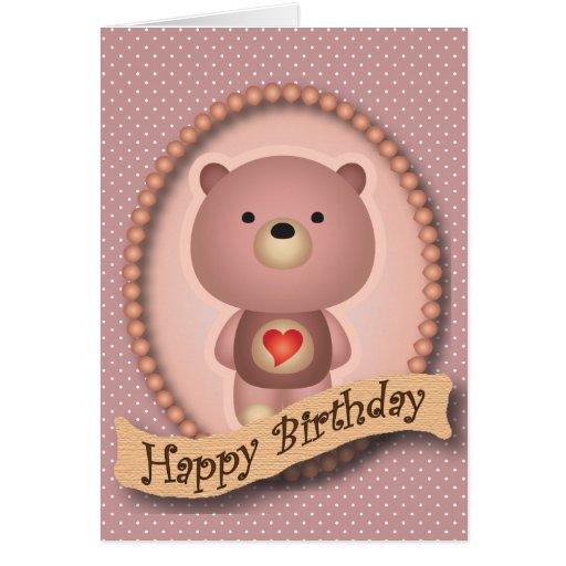 Tarjeta linda del feliz cumpleaños del rosa del os